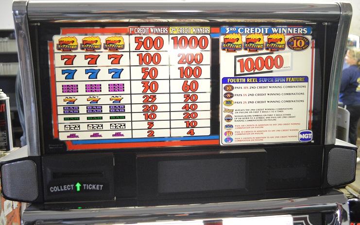 super spin sizzling 7s slot machine