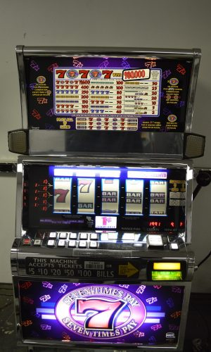7x pay 5 reel slot machine