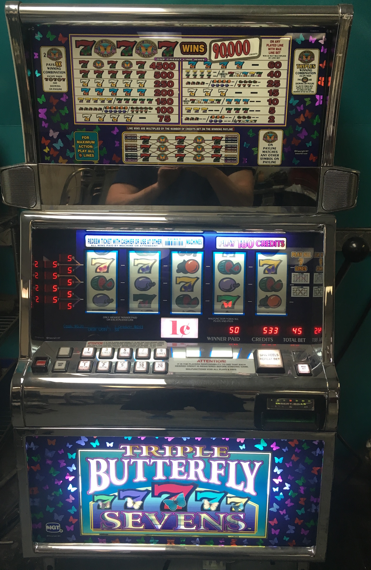 5 reel slot machine