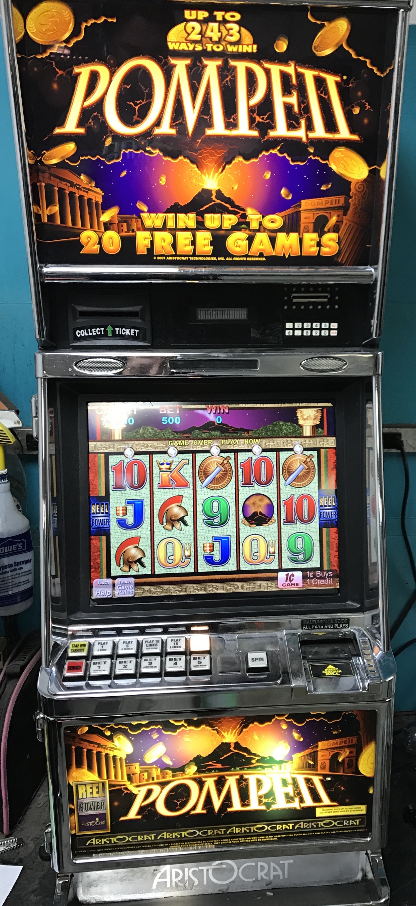 pompeii slot machine for sale