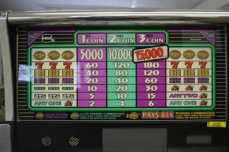 triple diamond deluxe slot machine parts