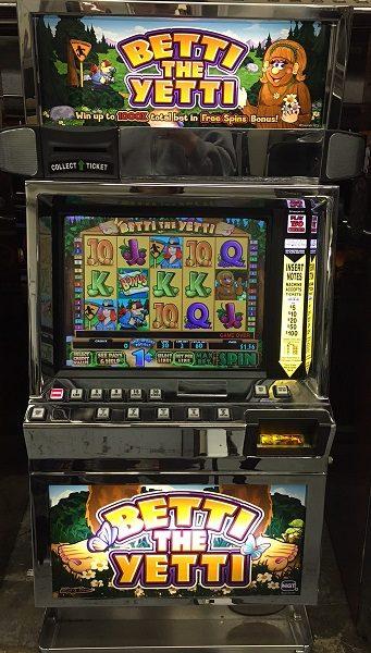 Betti the Yetti video slot machine