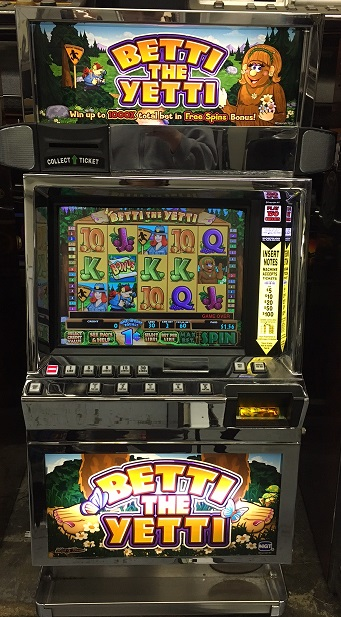 Betti the Yetti video slot machine