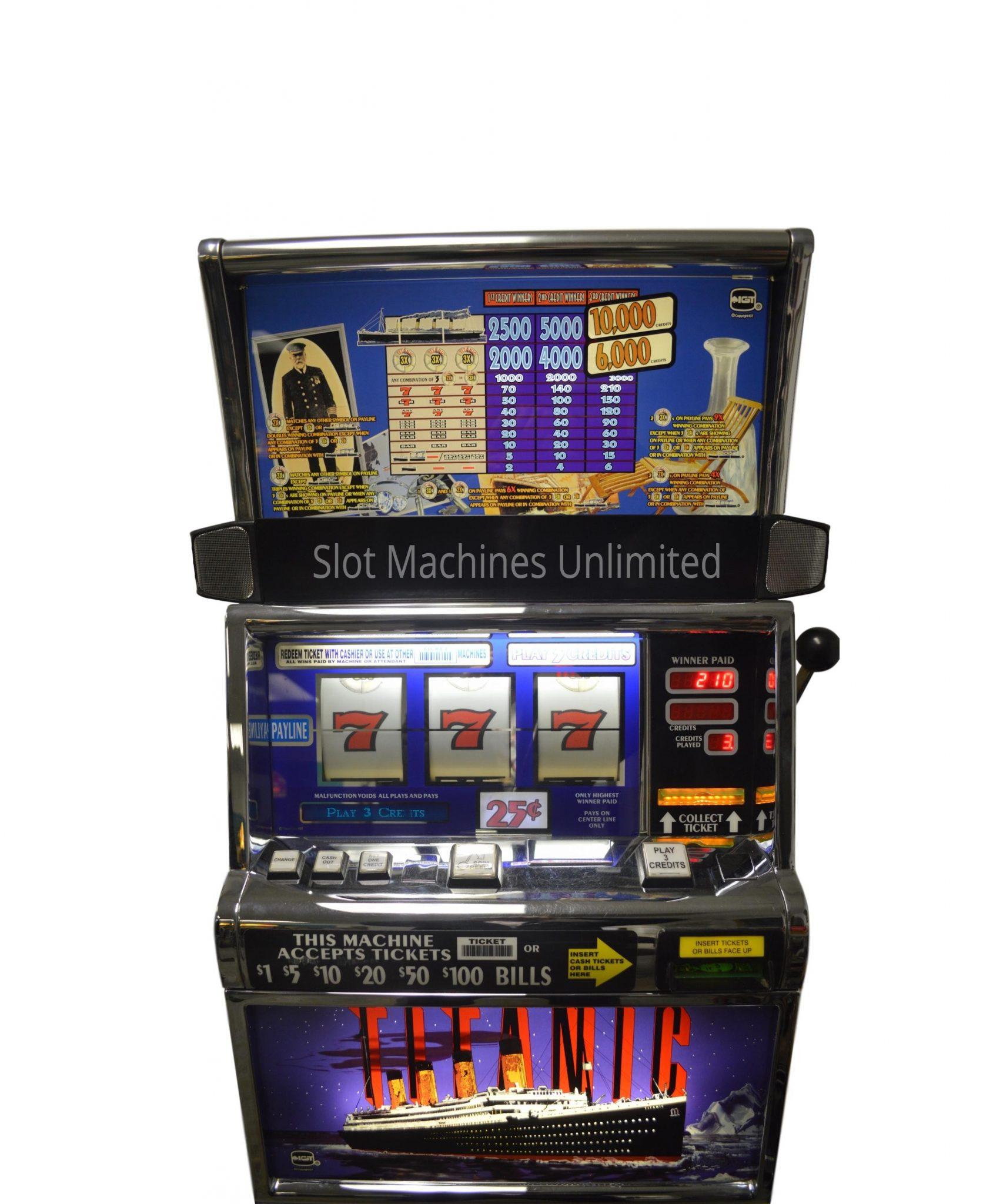 Old Titanic Slot Machine