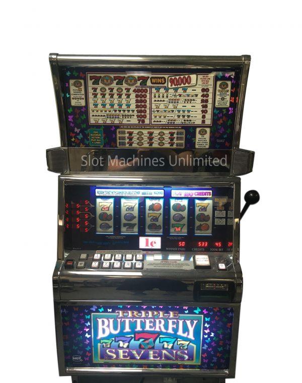 Triple Butterfly 7s 5 reel slot machine