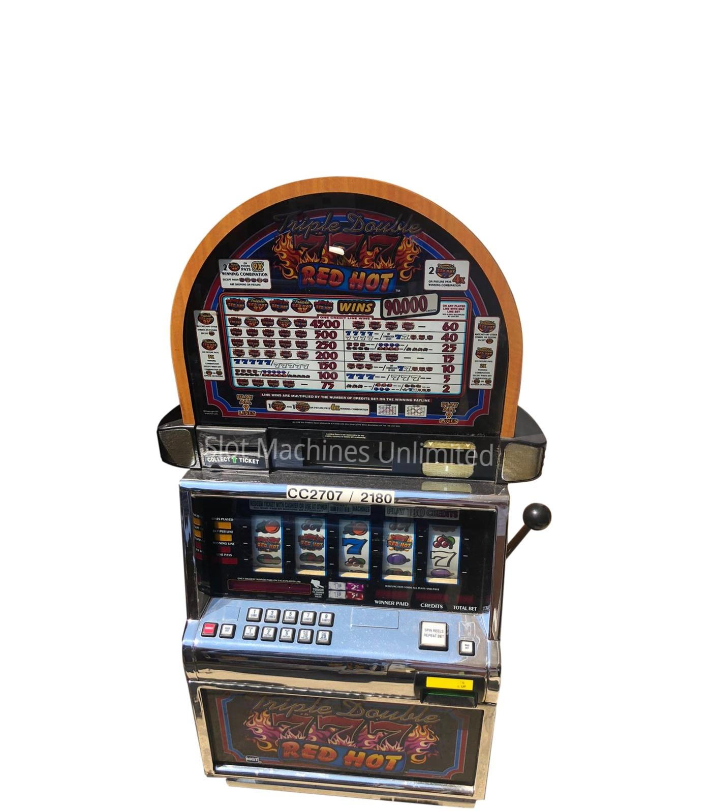 red white and blue 7 slot machines