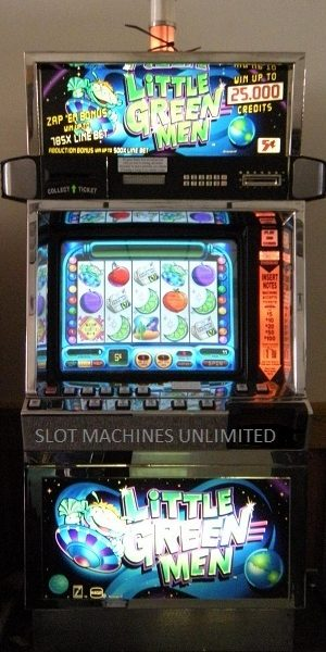 Little Green Men family reunion video slot machine