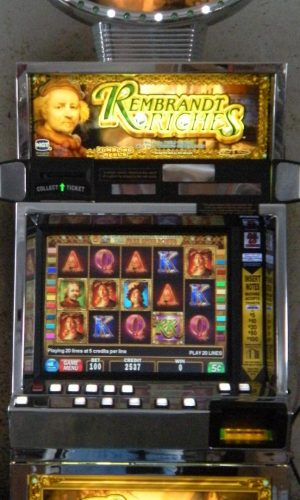 Rembrandt Riches video slot machine