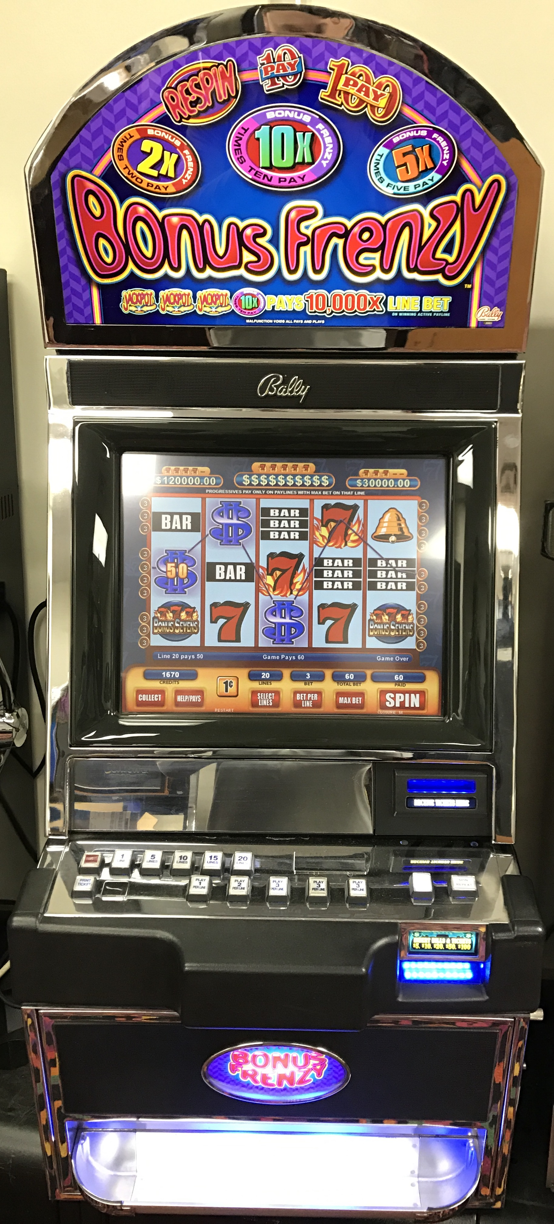 Bonus slot machine
